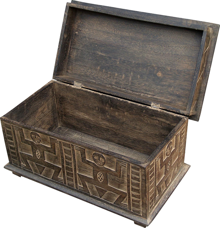 Valigie Cassapanche Dimensione: 25 x 69 x 25 cm Guru-Shop Handbeschnitzte Petto Legno di Balsa in 3 Dimensioni Scatole