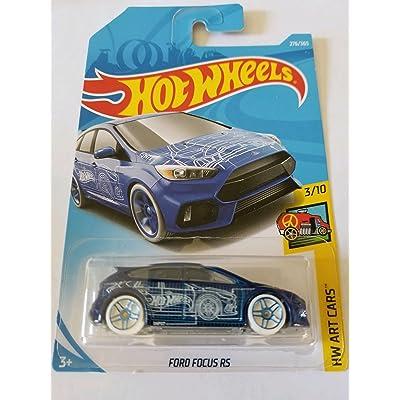Hot Wheels 2020 Hw Art Cars 3/10 - Ford Focus RS (Blue): Toys & Games