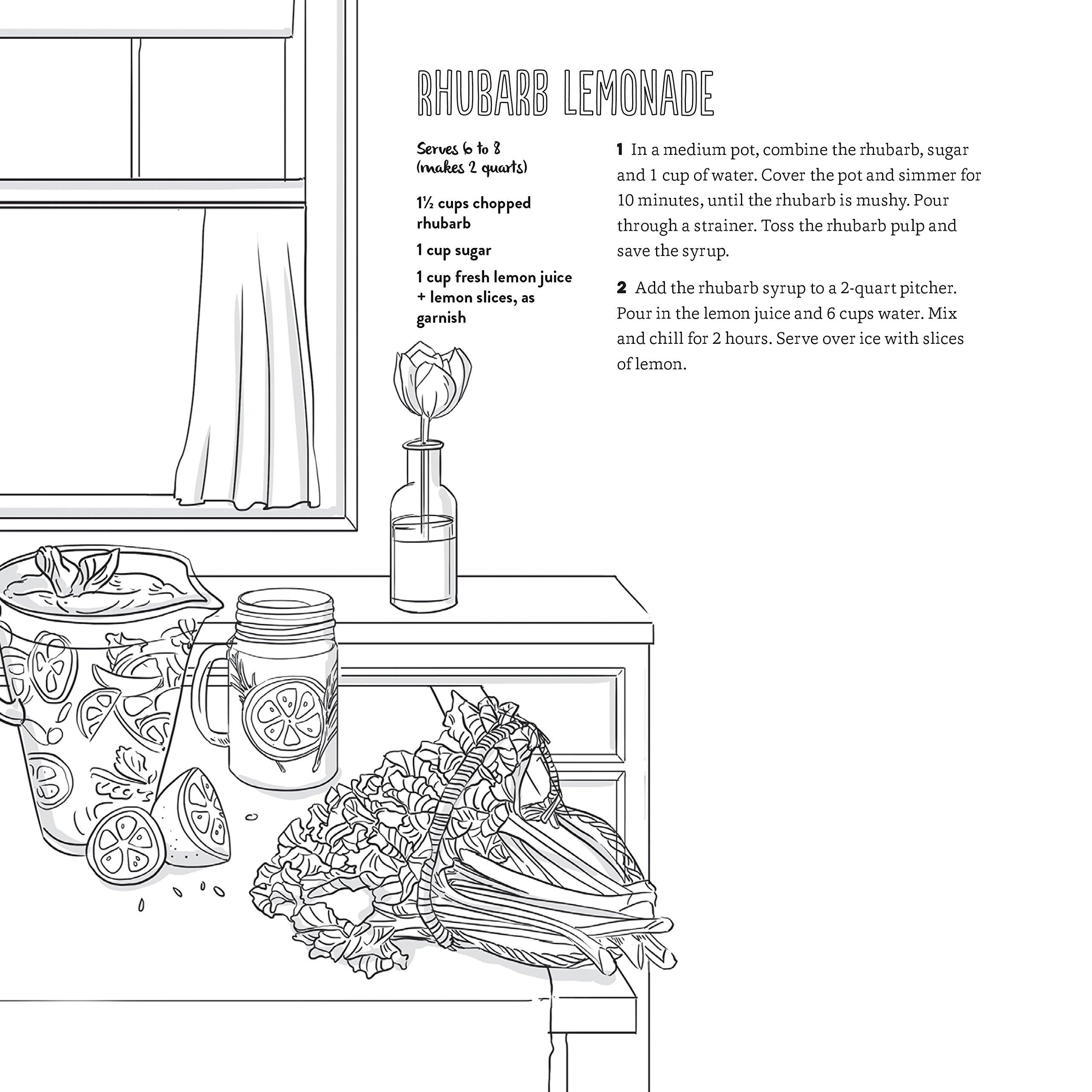 amazon com a cozy coloring cookbook 40 simple recipes to cook