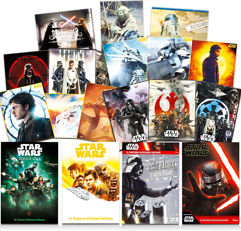 "Star Wars Poster Wall Decoration Art Set ~ 48 Pack Star Wars Prints (8"" x 11"") Featuring Darth Vader, Yoda, Luke Skywalker, R2D2, and More (Star Wars Room Decor Bundle)"