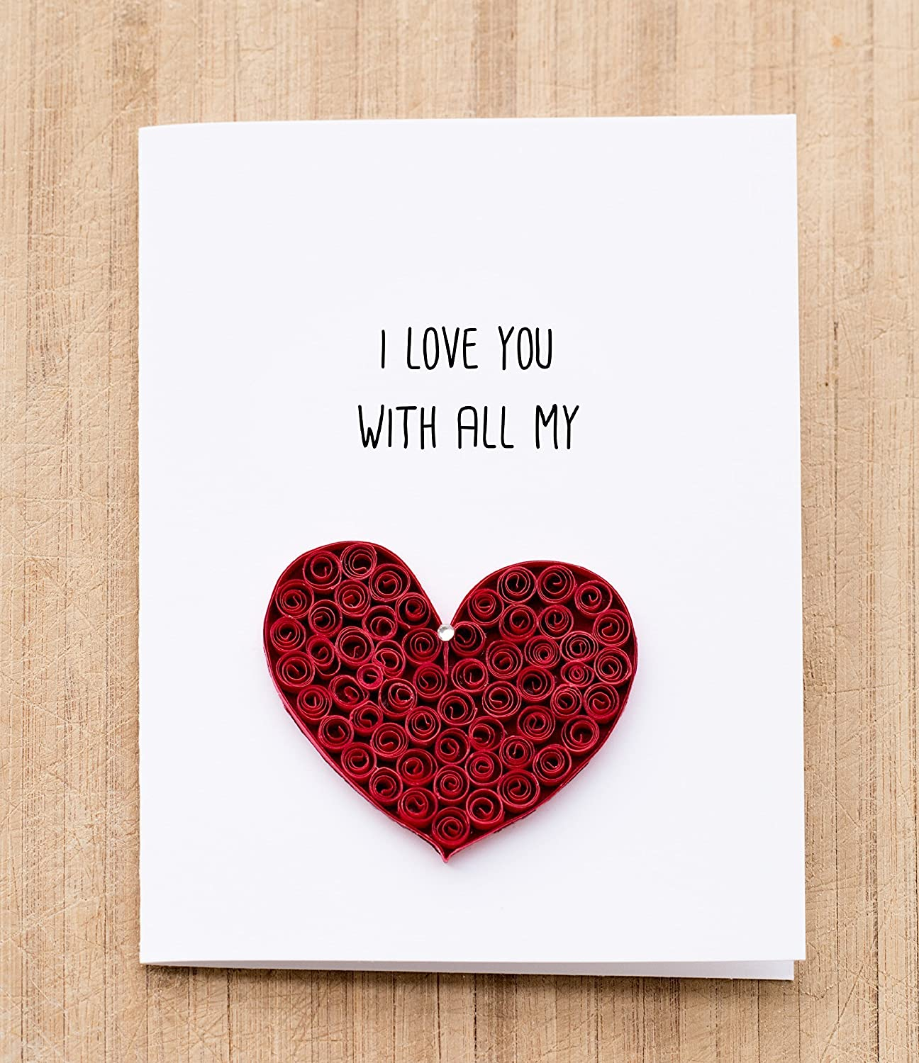 Amazon i love you card anniversary card for husband amazon i love you card anniversary card for husband boyfriend wife girlfriend handmade greeting card handmade kristyandbryce Image collections