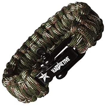KADACTIVE Paracord Survival Outdoor Armband mit ...