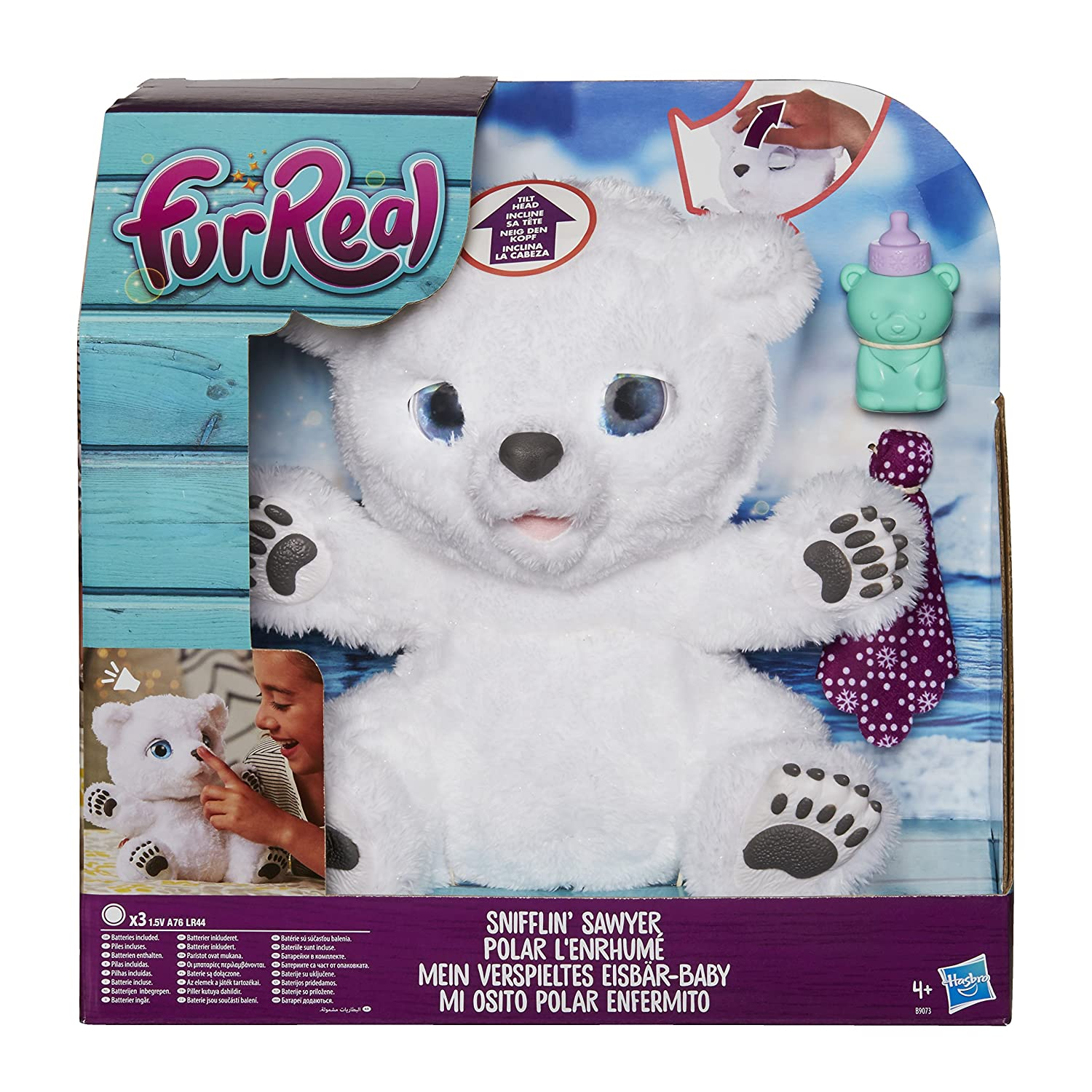 Amazon.es: FurReal Friends - Peluche Efermito, mi Osito Polar (Hasbro B9073EU4)