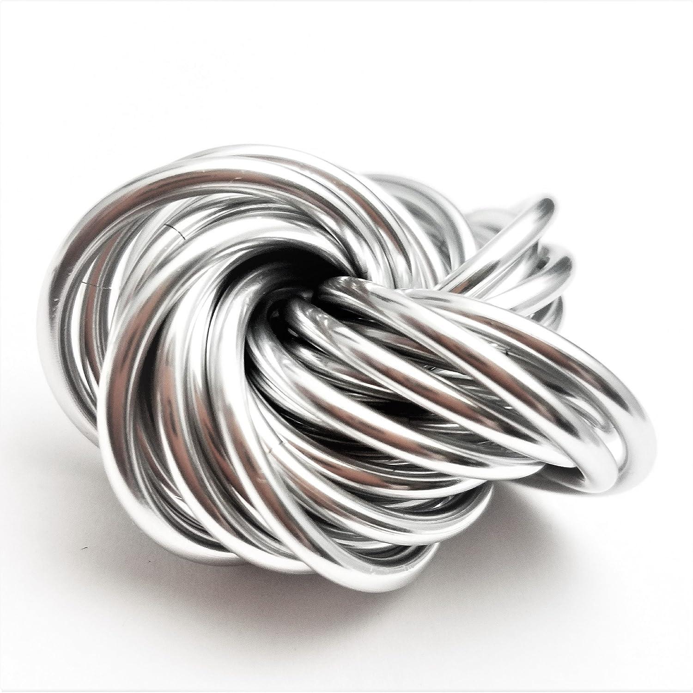 M/öbii Mercury Silver Stress Desk Toy Medium Mobius Fidget Ball for Restless Hands
