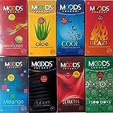 Moods Multi Premium Condoms 8 Diffrent New Flavour Dotted & Thin- (12*8,96 Pieces)