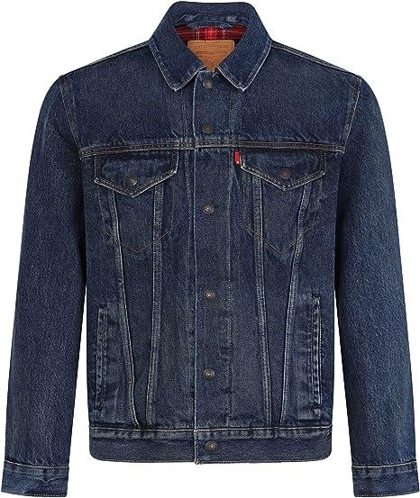 d47cd62e61ac Levi's Men's Tartan Lined Denim Trucker Jacket in Blue: Amazon.co.uk:  Clothing