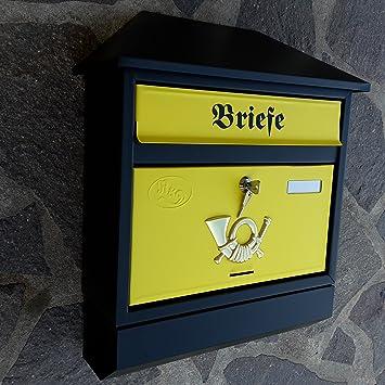 XXL Briefkasten Postkasten Zeitungsrolle Zeitungsfach aus Metall Wandmontage A4