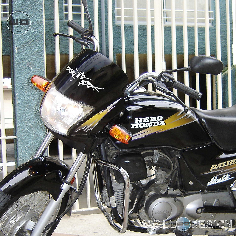 Walldesign sticker for bikes designer tiger eye silver colour reflective vinyl amazon in car motorbike