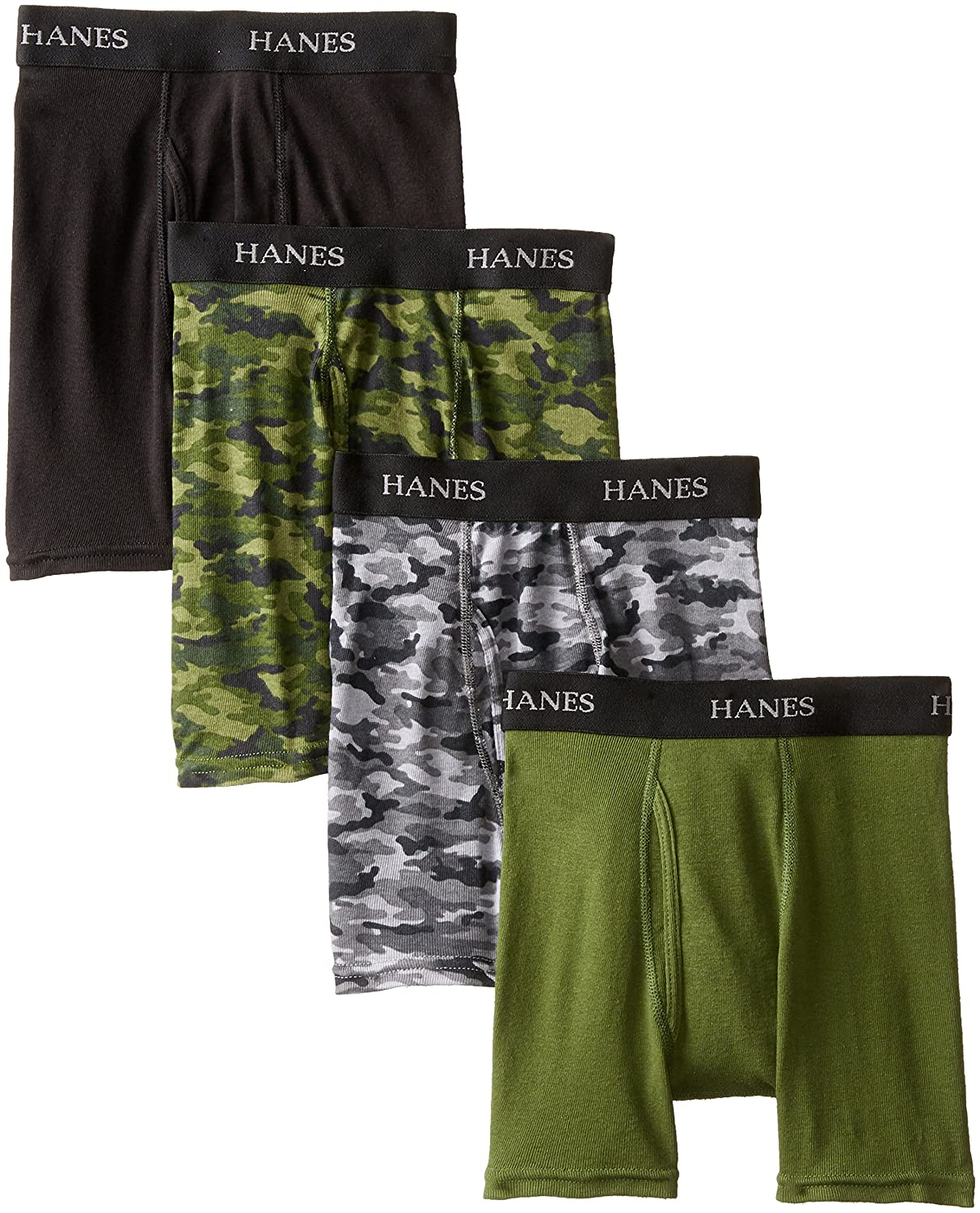 Hanes boys Big Boys 4 Pack Ultimate Comfort-flex Printed Boxer Brief Hanes Boys 8-20 Underwear BU740C