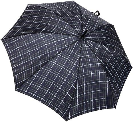 Fulton Huntsman para hombre del paraguas con eje extra fuerte y mango de madera oscura -