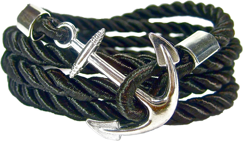 geralin gioielli Bracelet Homme Ancre en or bleu marine fabriqu/é /à la main