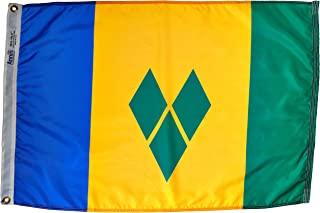 product image for Annin Flagmakers Model 197294 St. Vincent/Grenadines Flag Nylon SolarGuard NYL-Glo, 2x3 ft, 100% Made in USA to Official United Nations Design Specifications