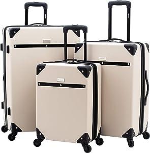 kensie 3 Piece Carroll Luggage Set, Sand Dollar