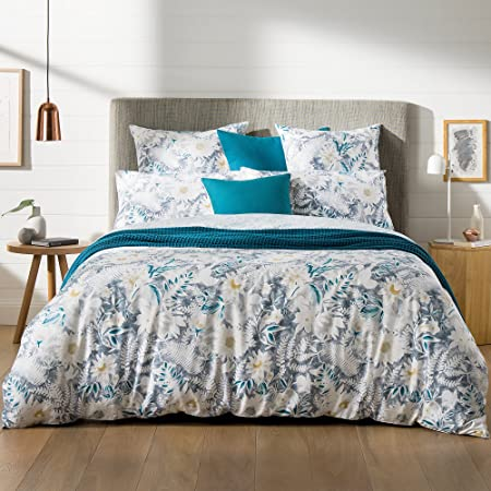 Sheridan satén de algodón Paloma Funda Nórdica y Funda de Almohada, Color Azul: Amazon.es: Hogar