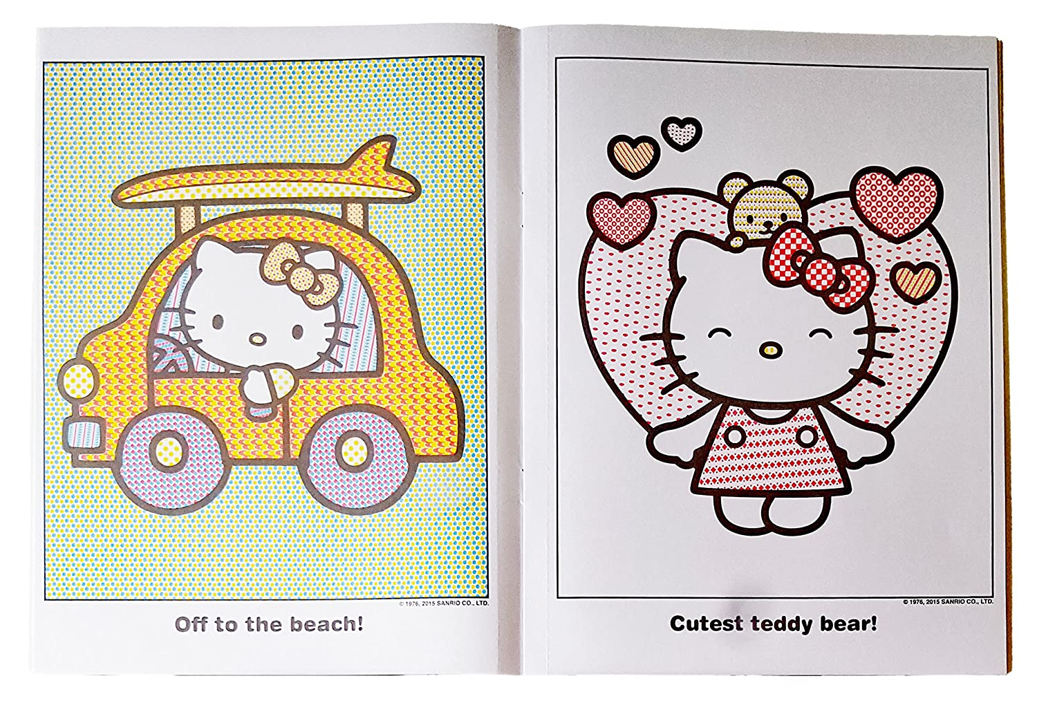Set of 2 Hello Kitty Paint With Water Books With 1 Paint Brush Set Sanrio
