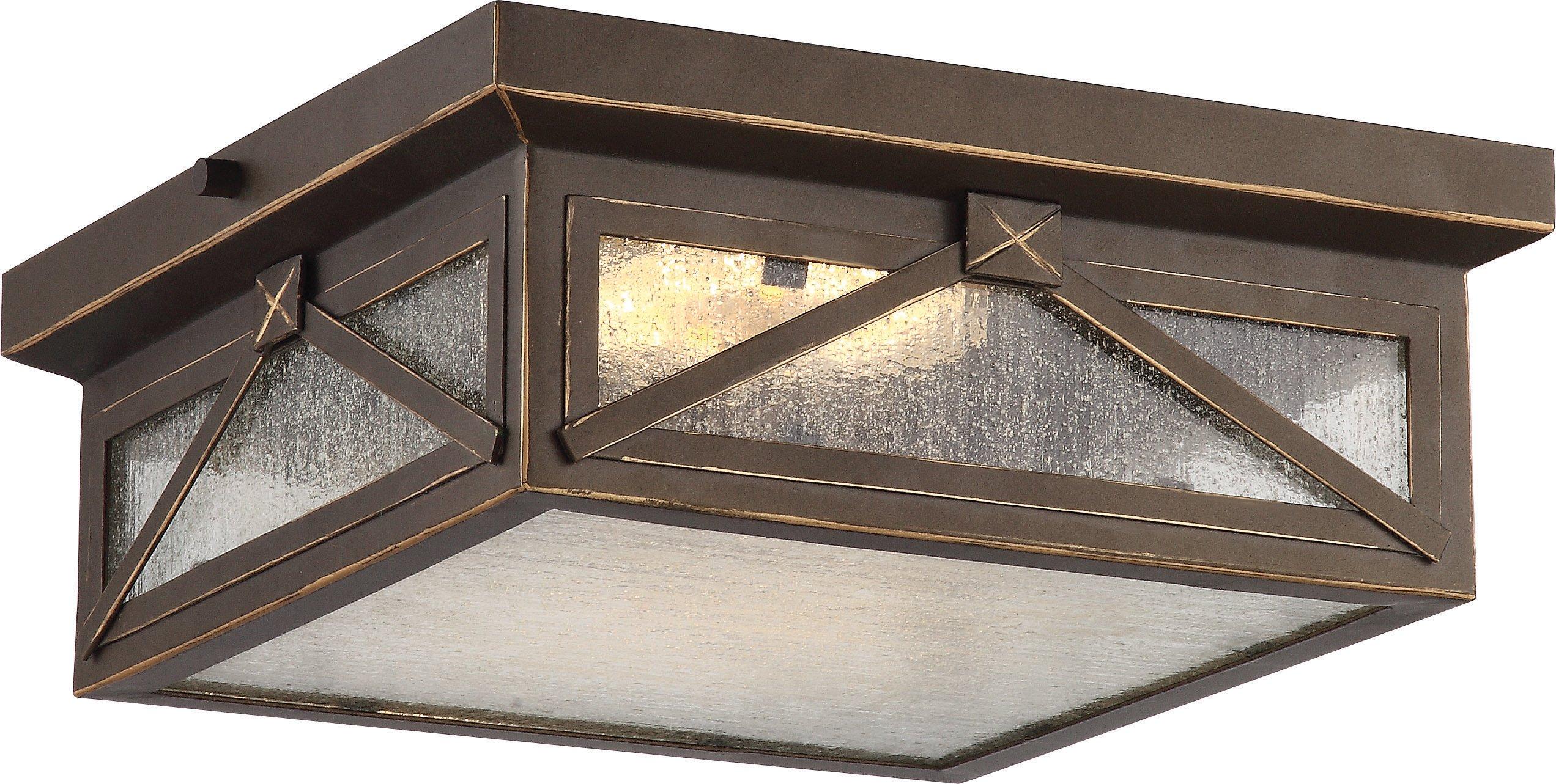 Nuvo Lighting One Light Nuvo 62/813 LED Outdoor Flush Mount, Bronze/Dark
