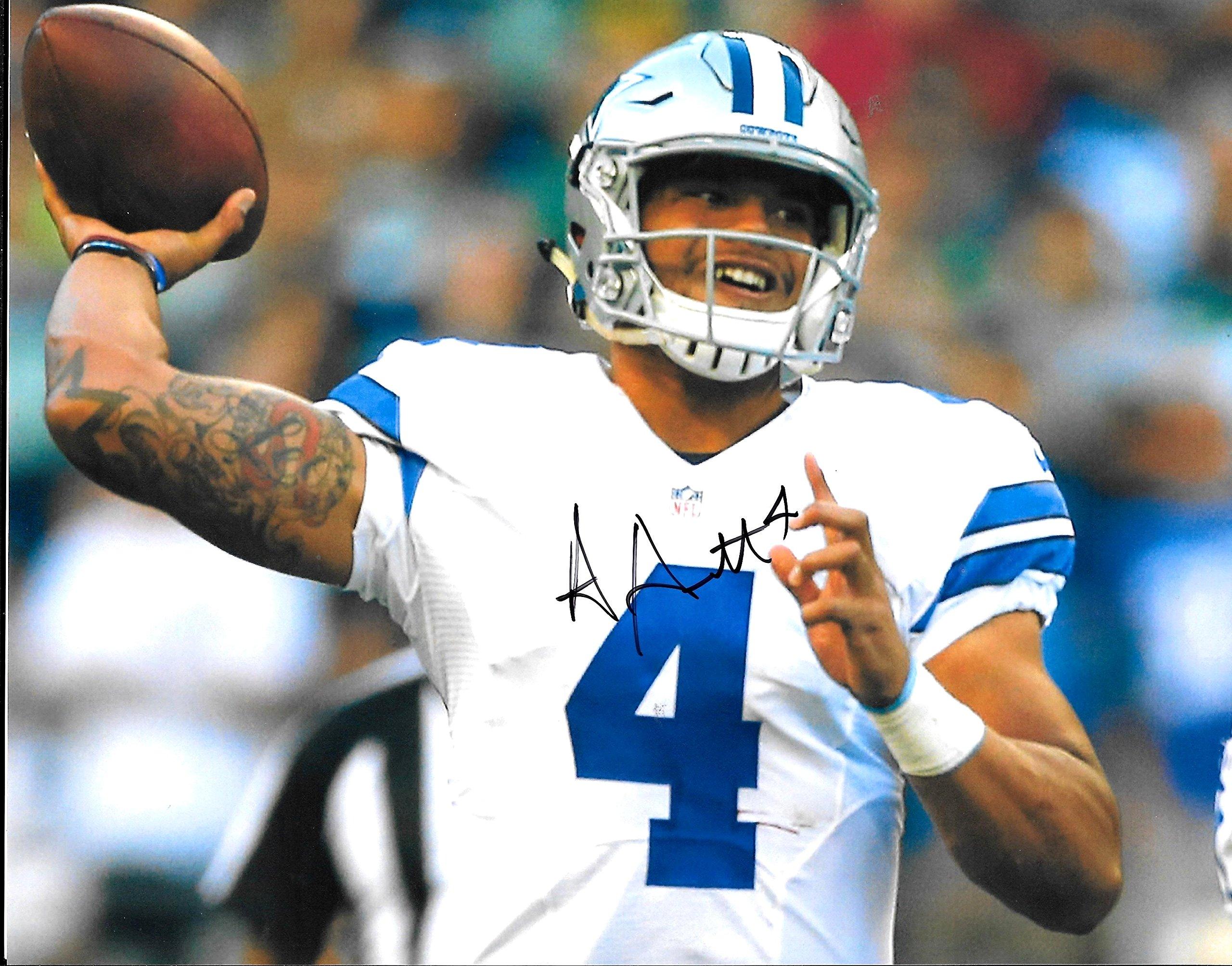 Dak Prescott signed autographed Dallas Cowboys 8 x 10 Photo Near Mint Condition COA