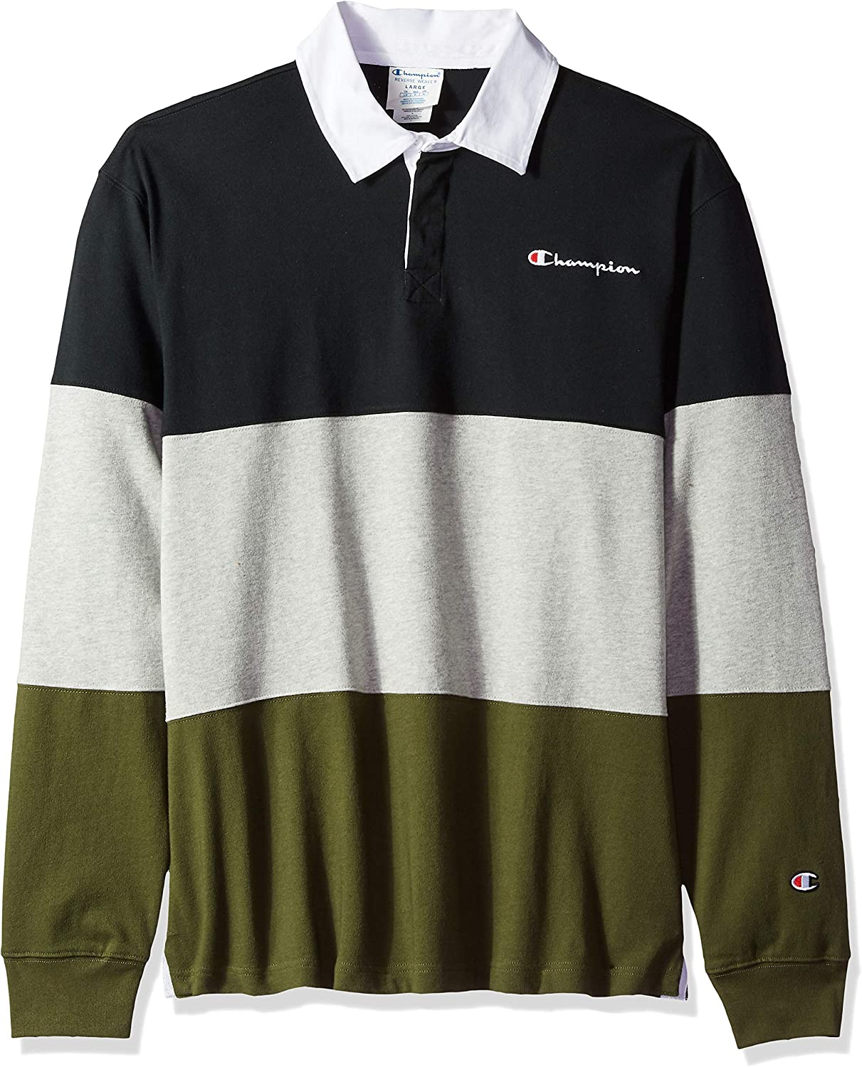 Champion LIFE Men's Colorblock Rugby Shirt