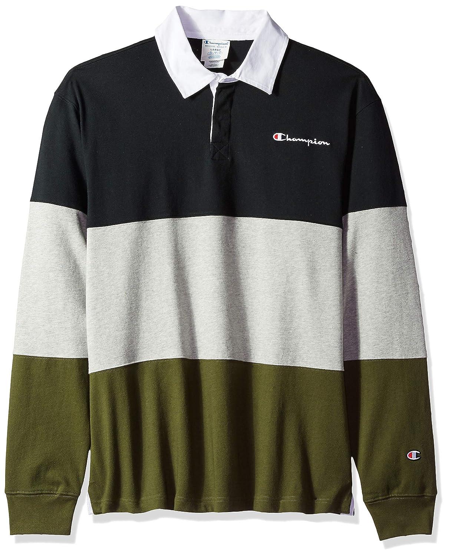 768986c5 Amazon.com: Champion LIFE Men's Colorblock Rugby Shirt: Clothing