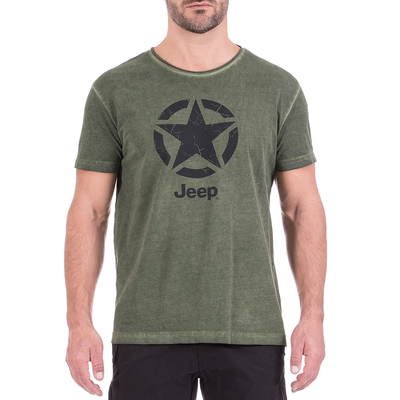 Jeep T-Shirt Vintage-Optik Star J8s Uomo