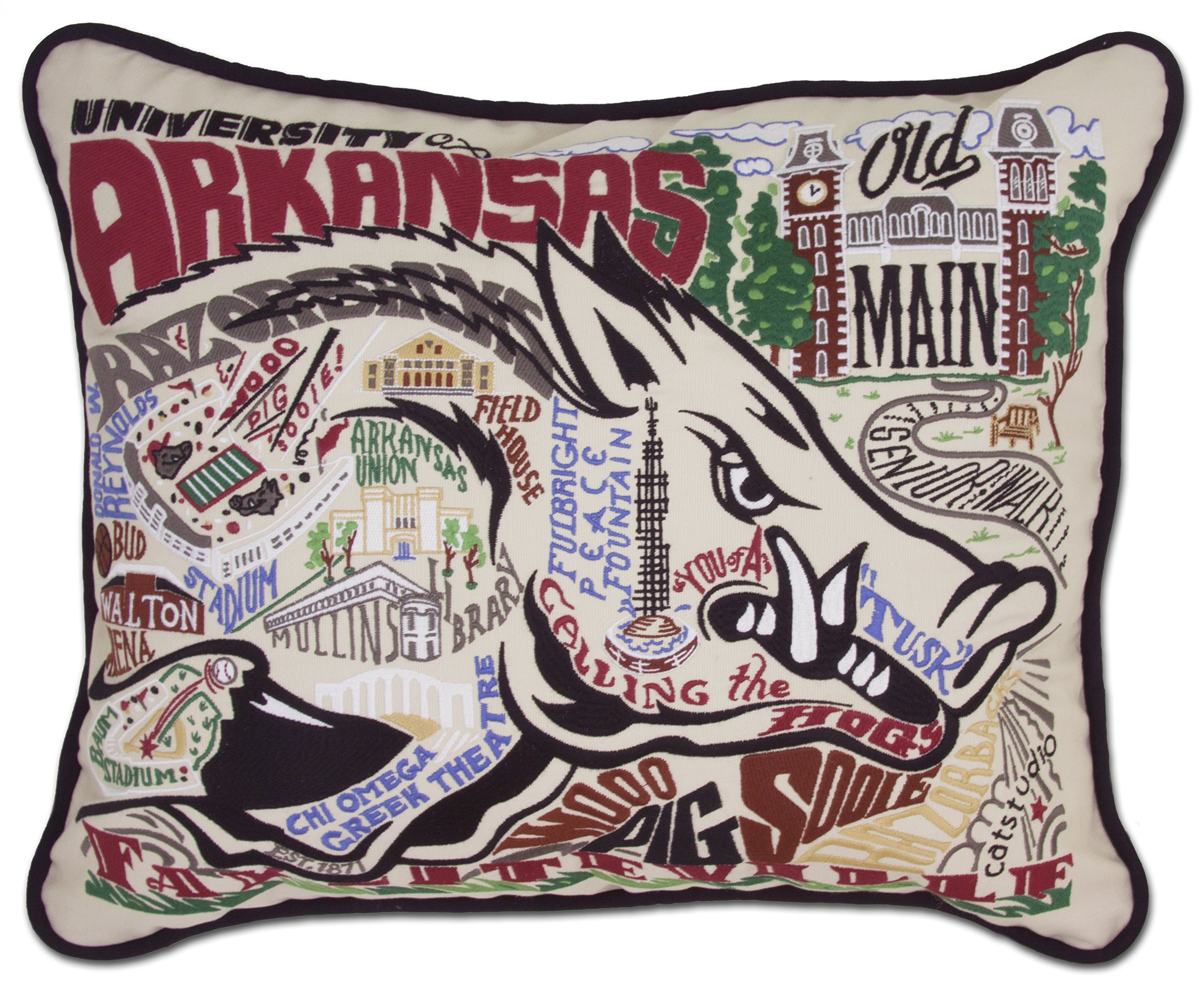 Catstudio University of Arkansas Embroidered Throw Pillow - 16'' x 20''