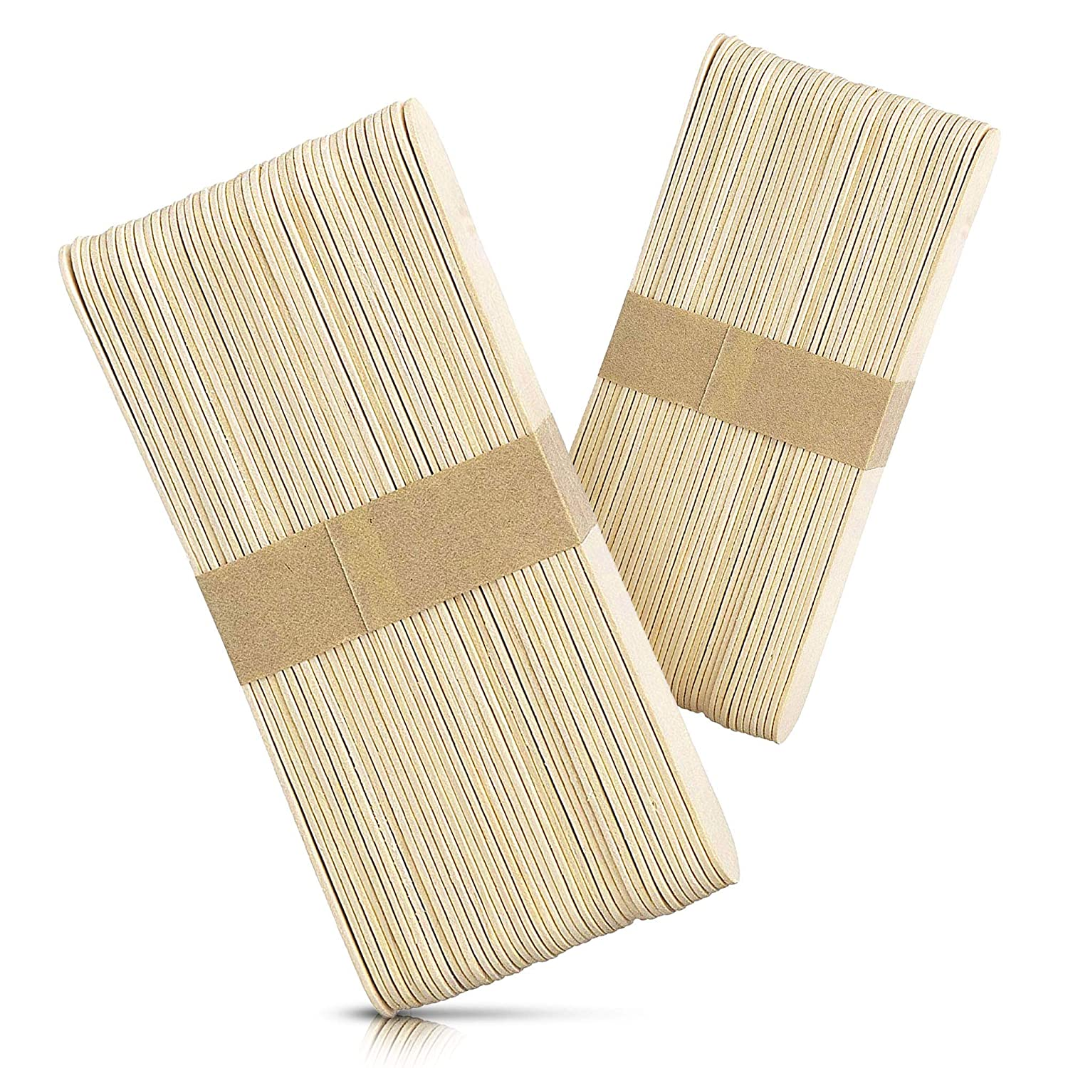 Rayson Wax Sticks 100 Pieces Large Wood Spatulas Waxing Craft Sticks Applicators for Hair Removal Eyebrow and Body