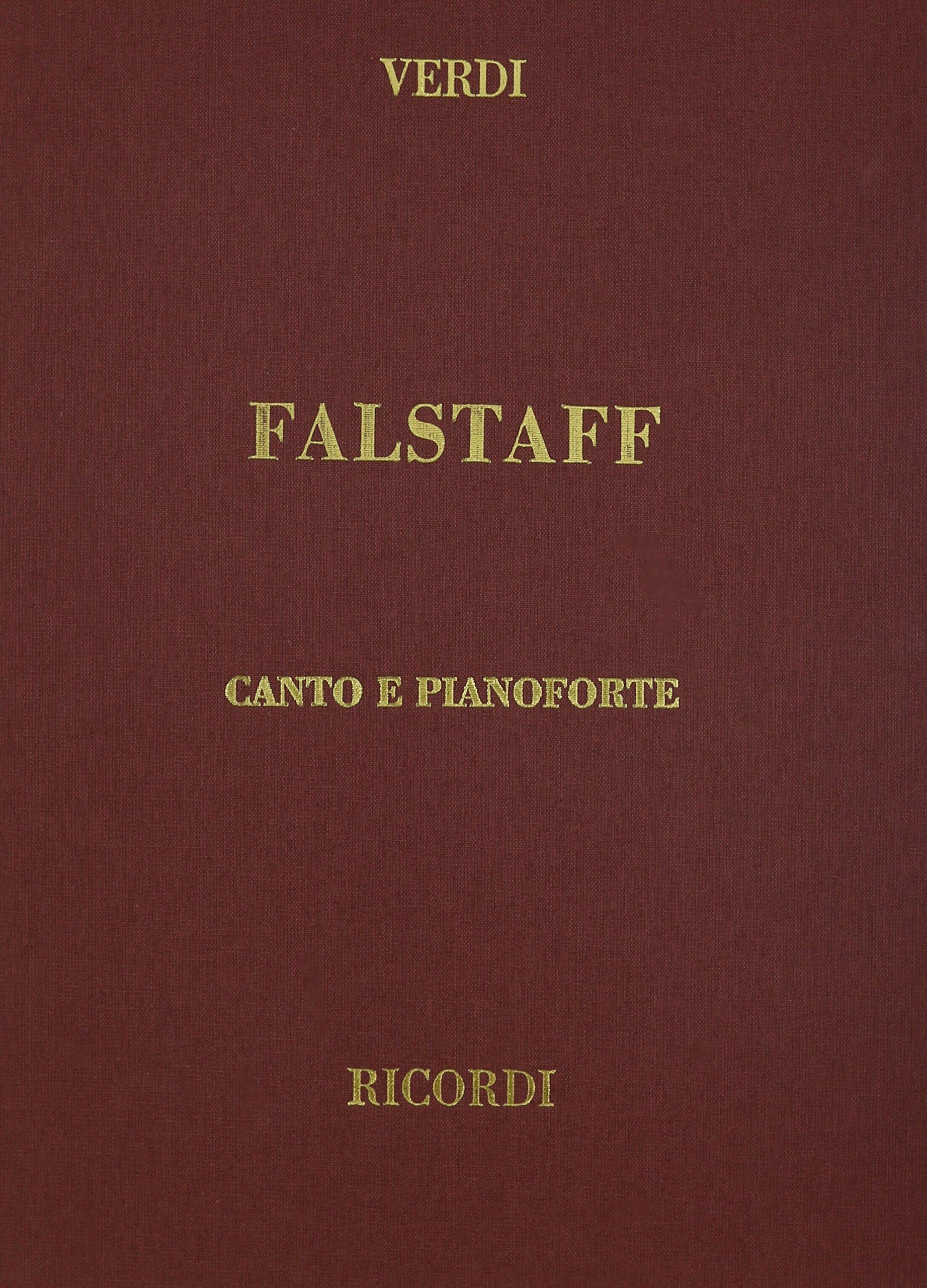 Falstaff, Cloth, It/En: Vocal Score