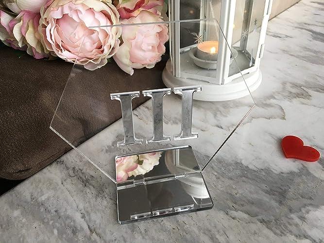 Marvelous Hexagon Wedding Table Numbers Roman Amazon Com Interior Design Ideas Clesiryabchikinfo