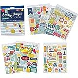 Set di adesivi per planner Busy Days e scrapbook di Boxclever Press. 199 adesivi decorativi su eventi, occasioni e attività. Adesivi per scrapbooking, agenda e bullet journal