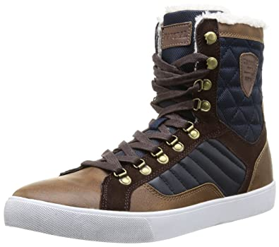 Kaporal Giskan, Baskets mode homme - Marron (9 Marron), 42 EU