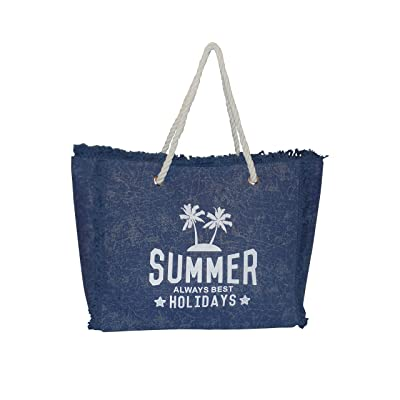 outlet Washed Canvas Summer All Best Holidays Fringe Beach Tote bag