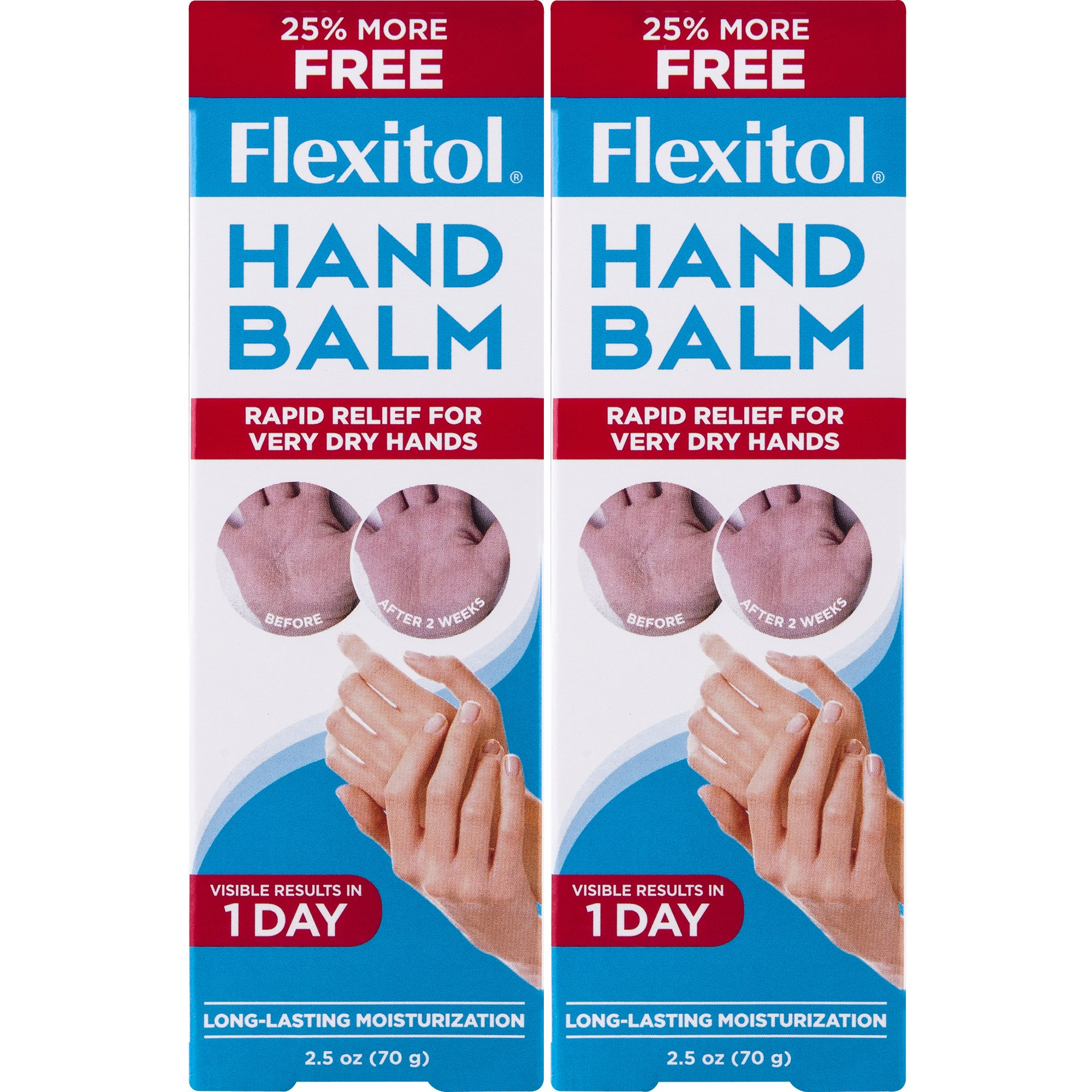 Flexitol Hand Balm for Fast Relief of Very Dry or Chapped Skin 2 Count Rich Moisturizing Hand Cream for Fast Relief of Very Dry or Chapped Skin, or Dryness Related to Eczema Psoriasis Dermatitis by Flexitol