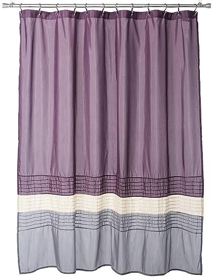 Amazon Lush Decor Mia Shower Curtain 72 By Inch Purple