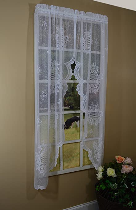 Curtain Chic Cameo Rose Swag, 63-Inch, Ivory