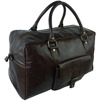 Prime Hide Women s Buffalo Leather Holdall Bag By Primehide Trent  Collection One Size Mahogany be711fb1bb
