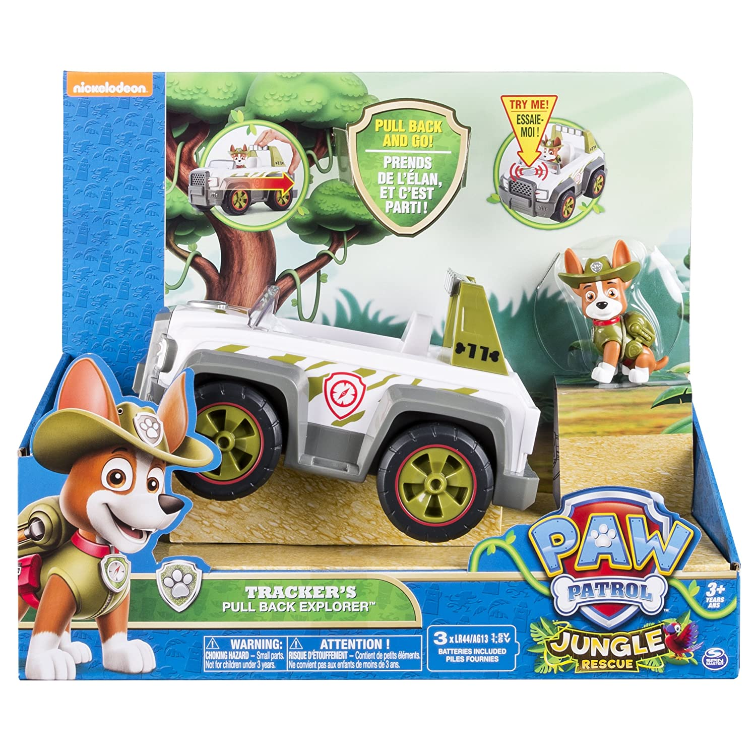 Paw Patrol - Trackers Pull Back Explorer Vehicle: Amazon.es ...