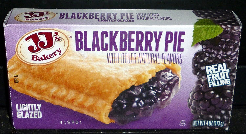 JJ's Bakery Lightly Glazed Snack Pies 4oz (Pack of 6) (Blackberry)