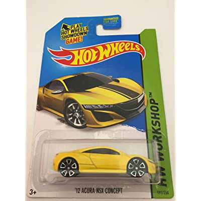 Hot Wheels 2015 HW Workshop '12 Acura NSX Concept 191/250, Yellow: Toys & Games