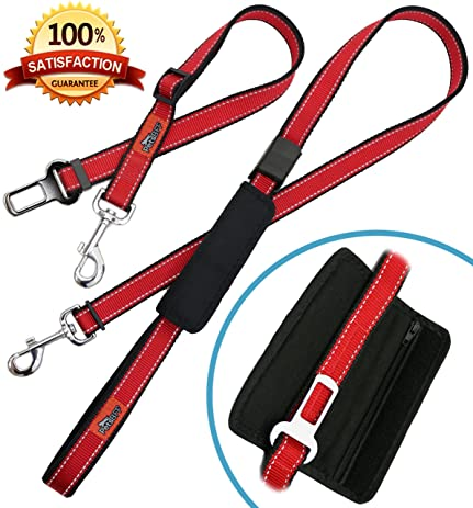 Amazon Dog Seat Belt Premium Adjustable Reflective Pet. Dog Seat Belt Premium Adjustable Reflective Pet Leashes Pocket With Zipper For Waste Bags. Seat. Seat Belt Harness Zipper At Scoala.co