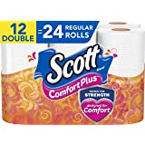 Scott ComfortPlus Toilet Paper, Bath Tissue, Double Rolls, 12 Count of 231 Sheets Per Roll