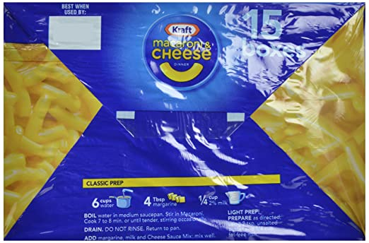 Amazon Kraft Macaroni Cheese Dinner Original 725 Oz 15