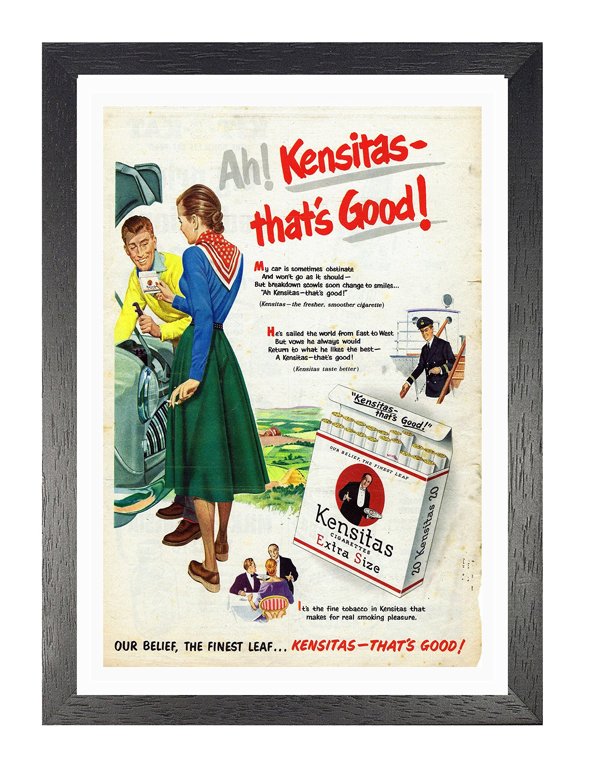 Kensitas A4 Framed Poster Fresher Smoother Cigarette Picture Vintage Old Advert Artwork Classic Old Fashioned Commercial Buy Online In Aruba At Aruba Desertcart Com Productid 64938535