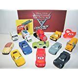 Cars Disney Pixar 3 Movie Deluxe Party Favors Goody Bag Fillers Set of 14 w/12 Plastic, a ToyRing, Sticker Featuring Next-Gen Racers, Dr. Damage and Many New Characters!