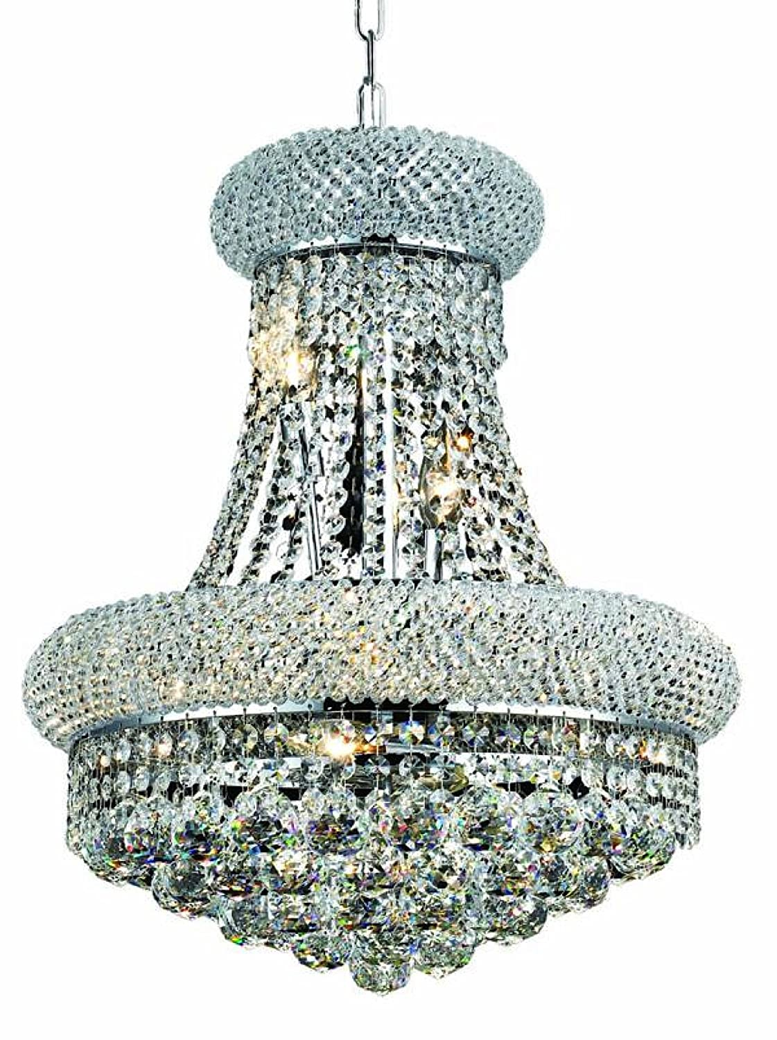 Elegant Lighting 1800D16G/RC Primo 20-Inch High 8-Light Chandelier ...