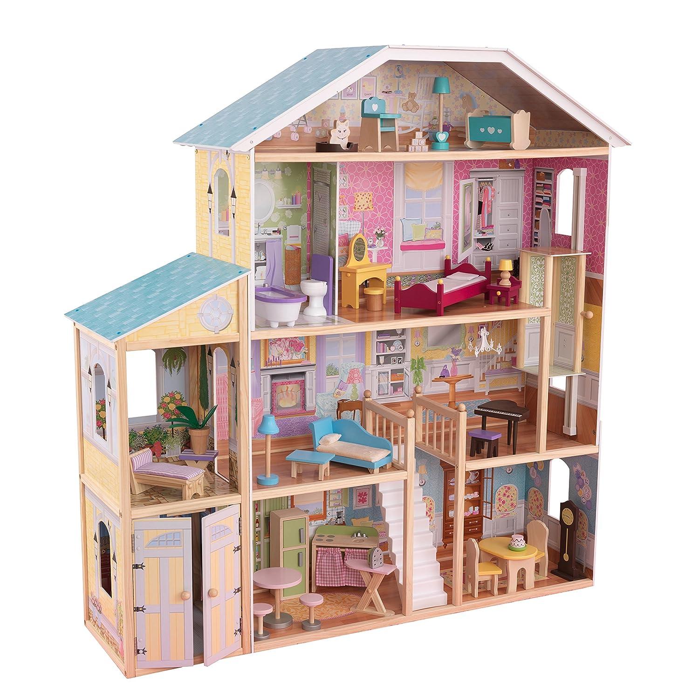 Barbie Haus Holz mit Licht und Soundeffekten - BKidkraft Puppenhaus Majestätische Villa