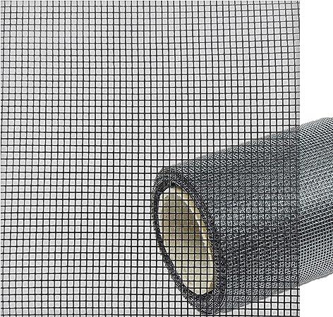 ONPIRA Fliegennetz aus Fiberglas Meterware Fliegengitter Insektenschutz Breite: 120cm; Farbe: Grau;