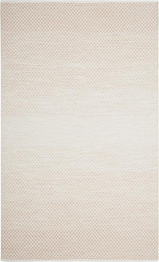Safavieh mtk601 a-5 Montauk colección Tejida a Mano algodón y Marfil área Alfombra, algodón, Beige, Marfil, 1,8 x 2,7 m: Amazon.es: Hogar