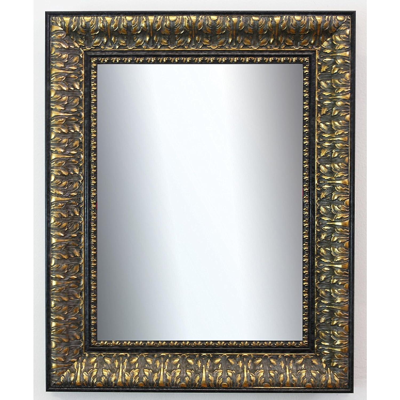 Online Online Online Galerie Bingold Spiegel Wandspiegel Badspiegel Flurspiegel Garderobenspiegel - Über 200 Größen - Ancona Schwarz Gold 7,5 - Außenmaß des Spiegels 60 x 90 - Wunschmaße auf Anfrage - Modern 84674c