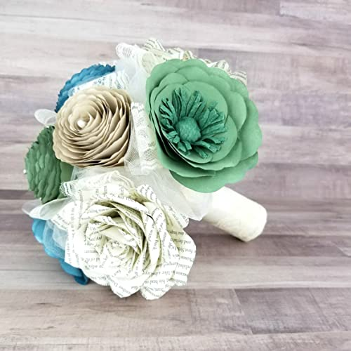 Amazon.com: Paper Flower Wedding Bouquet: Handmade