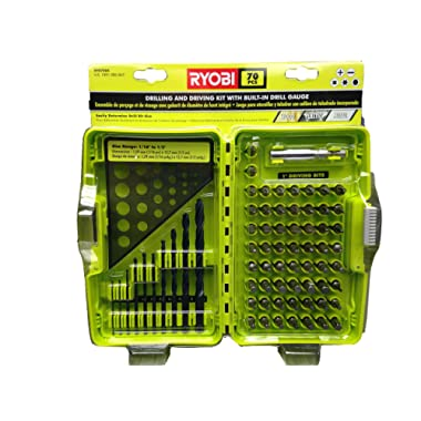 Ryobi 70 Piece Drilling and Driving Kit with Built In Drill Gauge